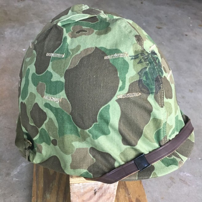 Korean-War-USMC-Camouflage-M-1-Helmet-Mint-NOS-2
