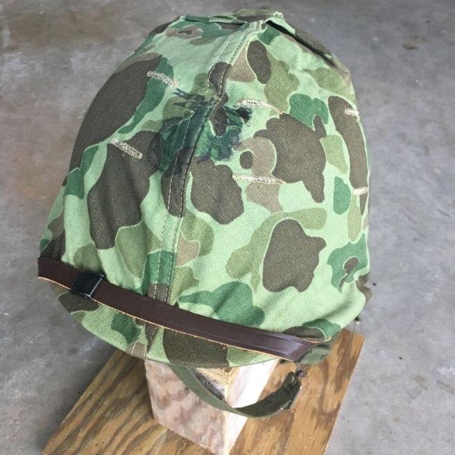 Korean-War-USMC-Camouflage-M-1-Helmet-Mint-NOS
