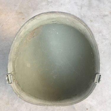 M-1-Helmet-Korean-War-Steel-Pot-OD-Hardware-Inside-Rim
