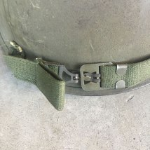M-1-Helmet-Korean-War-Steel-Pot-OD-Hardware-Rear-Seam-View