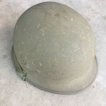 M-1-Helmet-Korean-War-Steel-Pot-OD-Hardware